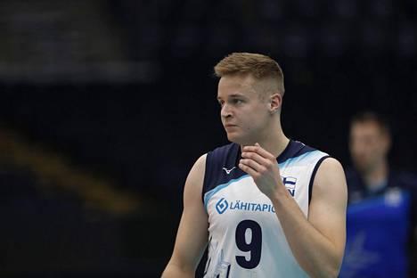 Tommi Siirilä teki 14 pistettä Japania vastaan ja oli Suomen tehokkain yhdessä Sauli Sinkkosen kanssa.