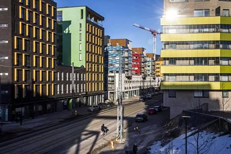 Helsingin Jätkäsaareen on kohonnut viime vuosina paljon kerrostaloja.
