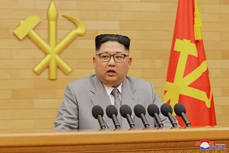 Kim Jong Un piti poikkeuksellisen diplomaattisen uudenvuodenpuheen.