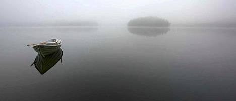 Franco Figarin valokuva utuisesta Valkjärvesta Vuoksen varrella luovutetussa Karjalassa.