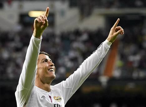 Näin Cristiano Ronaldo tuuletti Athletic Bilbaota vastaan.