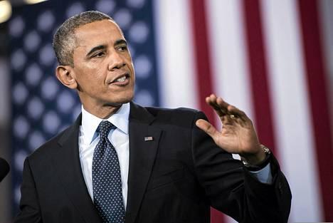 Barack Obama puhui Galesburgissa Illinois'n osavaltiossa keskiviikkona.