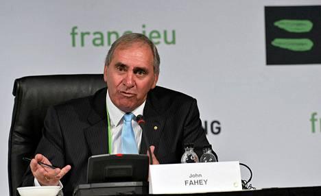 Wadan puheenjohtaja John Fahey otti kantaa Lance Armstrongin dopingtapaukseen.