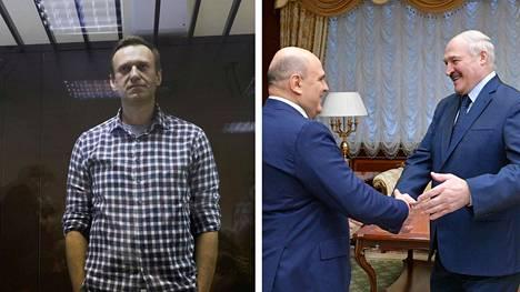Navalnyin tila heikkenee, lähipiiri valmistelee mielenosoituksia. Venäjän pääministeri Mihail Mišustin kävi viime viikon lopulla Valko-Venäjällä.