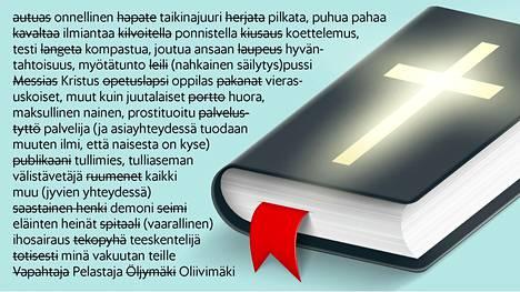 Sanat korvautuvat toisilla Uuden testamentin tuoreessa suomennoksessa.