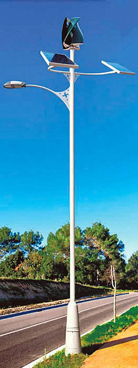 Espanjaan kohoaa lähivuosina katuvaloja, jotka saavat energiansa auringosta ja tuulesta.