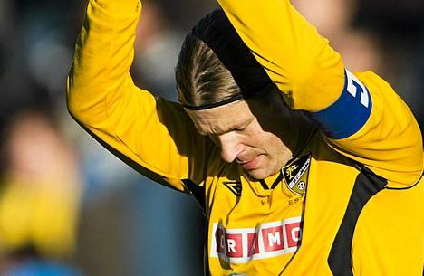 Maalivahti Tuomas Peltonen pelasi sunnuntaina viimeisen pelinsä FC Hongan liigajoukkueessa.