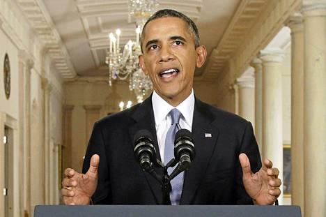 Yhdysvaltojen presidentti Barack Obama asetti puheessaan etusijalle diplomaattisen ratkaisun Syyriassa, mutta ei sulkenut pois myöskään voimankäyttöä.