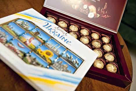 Ukrainalaista Roshen -merkkistä suklaata.