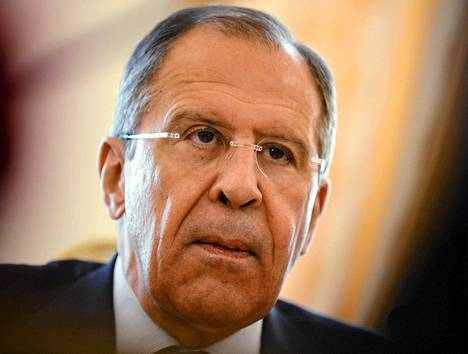 Venäjän ulkoministeri Sergei Lavrov Moskovassa maanantaina.