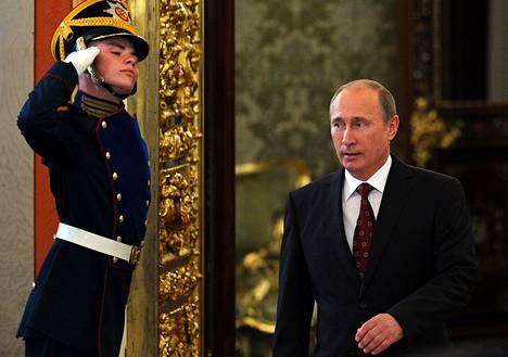 Venäjän presidentti Vladimir Putin saapui eilen Kremliin.