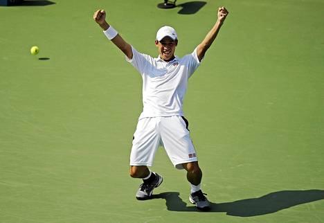 Japanilaisesta Kei Nishikorista tuli asialainen mies grand slam-kilpailun loppuottelussa.