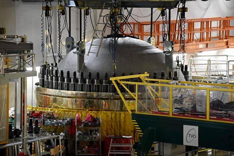 Paineastian kansi Olkiluodon ydinvoimalassa (OL 1) vuosihuoltopäivänä Eurajoella 29. toukokuuta 2018.