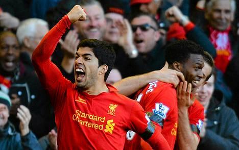 Luis Suárez teki myös maalin Chelseaa vastaan.