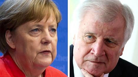 Saksan liittokansleri Angela Merkel ja sisäministeri Horst Seehofer.