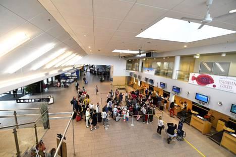 Tallinnan lentoasema Virossa 27. kesäkuuta 2019.