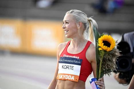 Viime viikolla Annimari Korte voitti Turun Kalevan kisoissa uransa ensimmäisen Suomen mestaruuden.