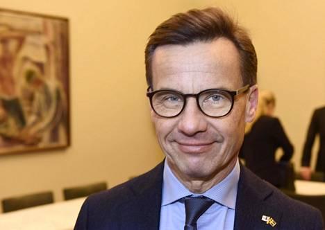 Ruotsin maltillisen kokoomuksen uusi puheenjohtaja Ulf Kristersson kuvattiin vierailullaan eduskunnassa Helsingissä viime joulukuussa.