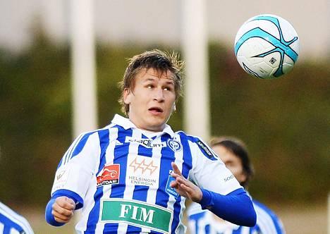 Robin Lod viimeisteli HJK:n molemmat maalit.
