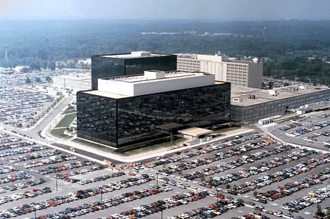 Ilmakuva turvallisuusvirasto NSA:n pääkonttorista Fort Meadessa Marylandissa.