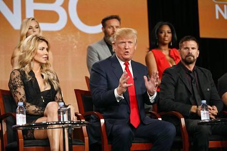 Donald Trump puhui Diili-ohjelmastaan televisiokriitikkojen järjestön lehdistötilaisuudessa Pasadenassa tammikuussa 2015.