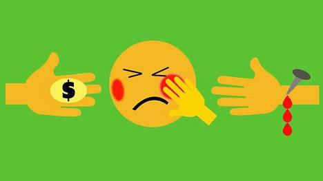 Olisiko näistä anteeksiannon emojiksi?