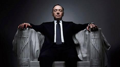 House of Cards on tunnetuimpia Netflix-sarjoja. Sen pääosaa näyttelee Kevin Spacey.
