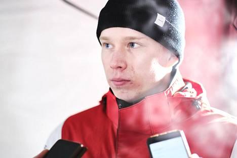 Kalle Rovanperä Lapin rallissa tammikuussa 2020.