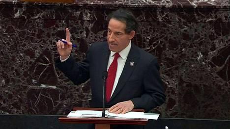 Jamie Raskin Yhdysvaltain senaatissa tiistaina.
