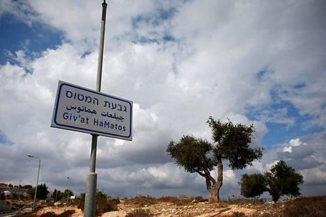 Israel suunnittelee uutta siirtokuntaa Givat Hamatosiin Itä-Jerusalemissa.