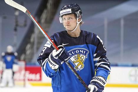 Kasper Simontaival was a bit surprisingly Finland's second best scorer.