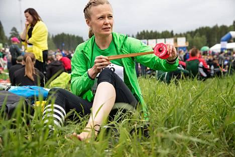 Hanna Kosonen suunnisti Kangasalan Jukolassa vuonna 2019.