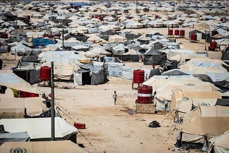 Näkymä al-Holin leiriltä elokuussa 2019.