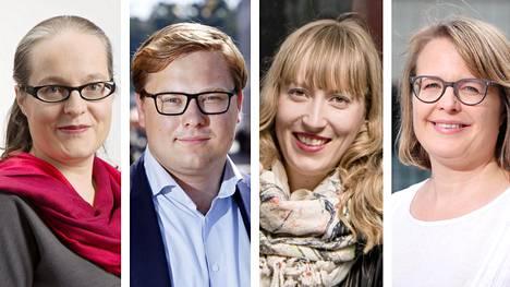 Anna Vuorjoki, Daniel Sazonov, Eveliina Heinäluoma ja Sanna Vesikansa
