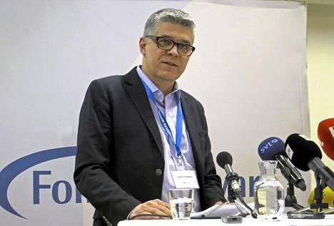 Ruotsin turvallisuuspoliisi Säpoa johtava Anders Thornberg puhui Sälenin puolustuskonferenssissa.