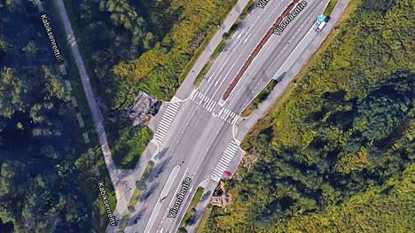 Ruutukaappaus Google Maps -karttapalvelun satelliittikuvasta.