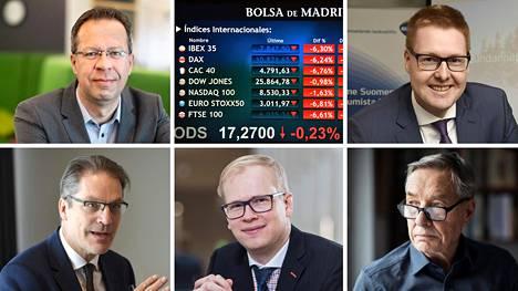 Lippo Suominen (vas. ylh.), Risto Murto (vas. alh.), Antti Saari, Seppo Saario ja Sami Pakarinen.