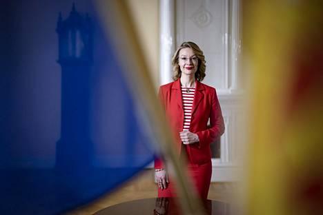 Suomen Eurooppa- ja omistusohjausministeri Tytti Tuppurainen Valtioneuvoston linnassa keskiviikkona.