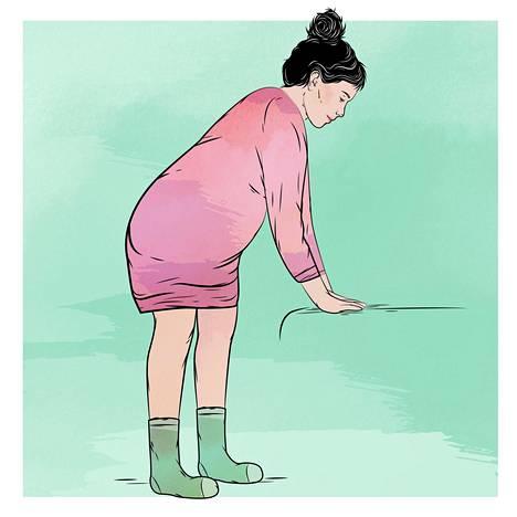 Seisominen voi helpottaa synnytyksen edistymistä.