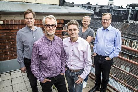 Nexit Venturesin perustajaosakkaita ovat Risto Yli-Tainio (vas.), Michel Wendell, Artturi Tarjanne, Sami Karppinen ja Pekka Salonoja.
