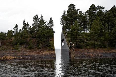 Ruotsalaisen taiteilija Jonas Dahlbergin suunnitelma muistomerkiksi joukkosurman uhrien muistoksi.