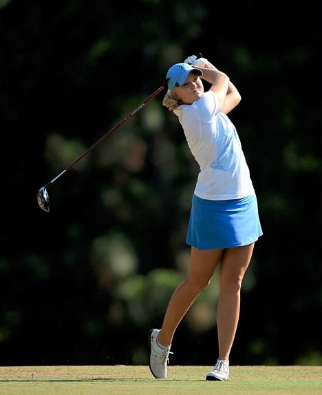 Emily Penttilän avauspäivä US Openissa ei mennyt putkeen.