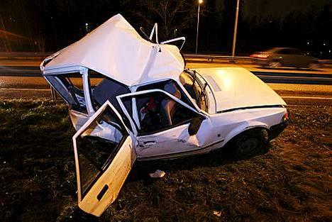 Liikenneonnettomuudet lisääntyivät Helsingissä