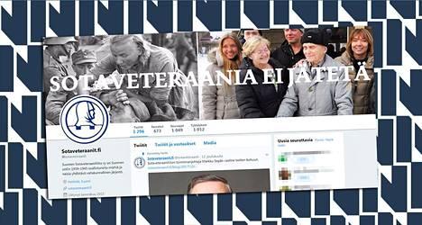 Sotaveteraaniliiton Twitter-tili on perustettu vuoden 2015 alussa.