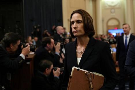 Venäjä-asiantuntija Fiona Hill todisti kongressin edustajainhuoneessa viime marraskuussa.