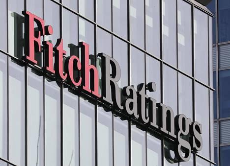 Luottoluokitusyhtiö Fitch Ratingsin toimipiste Lontoon Canary Wharfissa.