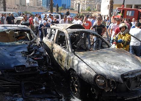 Autopommi räjähti Damaskoksen ydinkeskustassa.