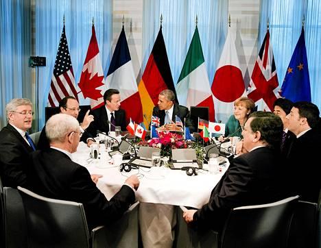 G7-maiden johtajat ovat koolla Haagissa Hollannissa.