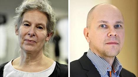 Hanna Nohynek (vas.) ja Mika Rämet.