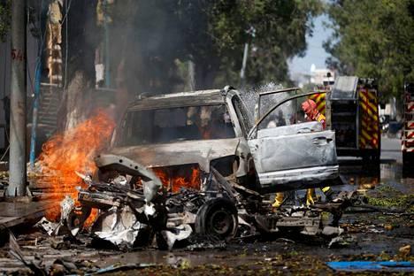 Ääri-islamistinen al-Shabaab-järjestö teki pommi-iskun ravintolaan Somalian pääkaupungissa Mogadishussa lokakuussa.